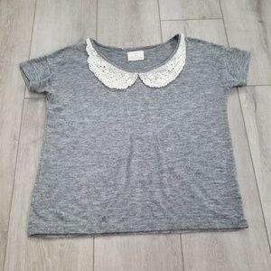 Pins And Needles Lace Bib Teeshirt